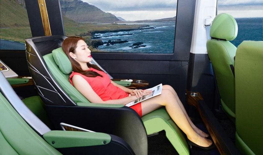 Ghế được mô phỏng theo ghế Zero G – Phi trọng lực của cơ quan hàng không vũ trụ Mỹ (NASA)